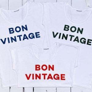 Bon Vintage slogan tshirt