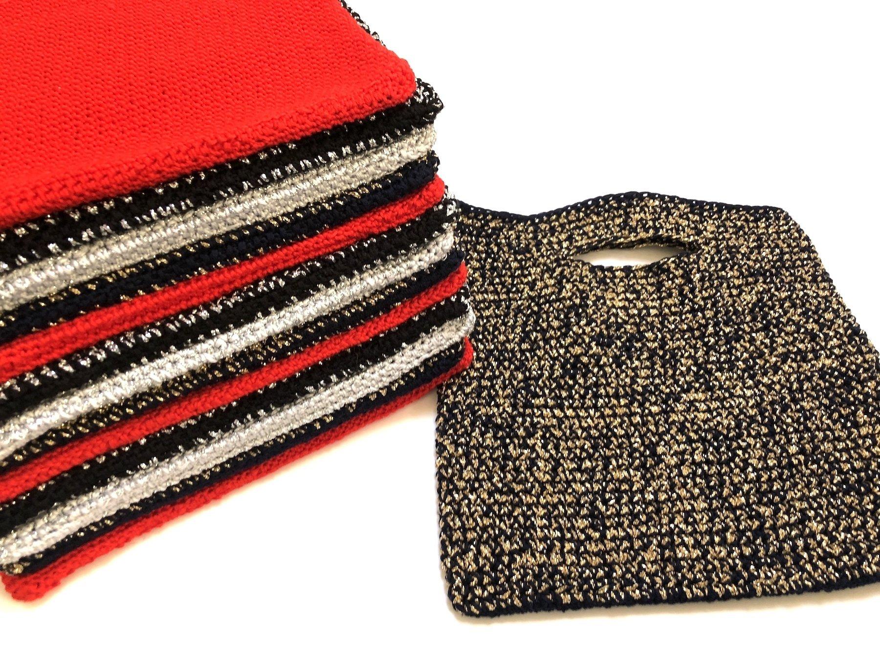 crochet mini shopper bag