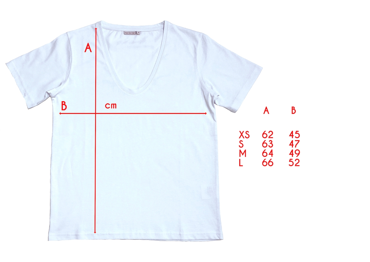 deep rounded v neck t-shirt