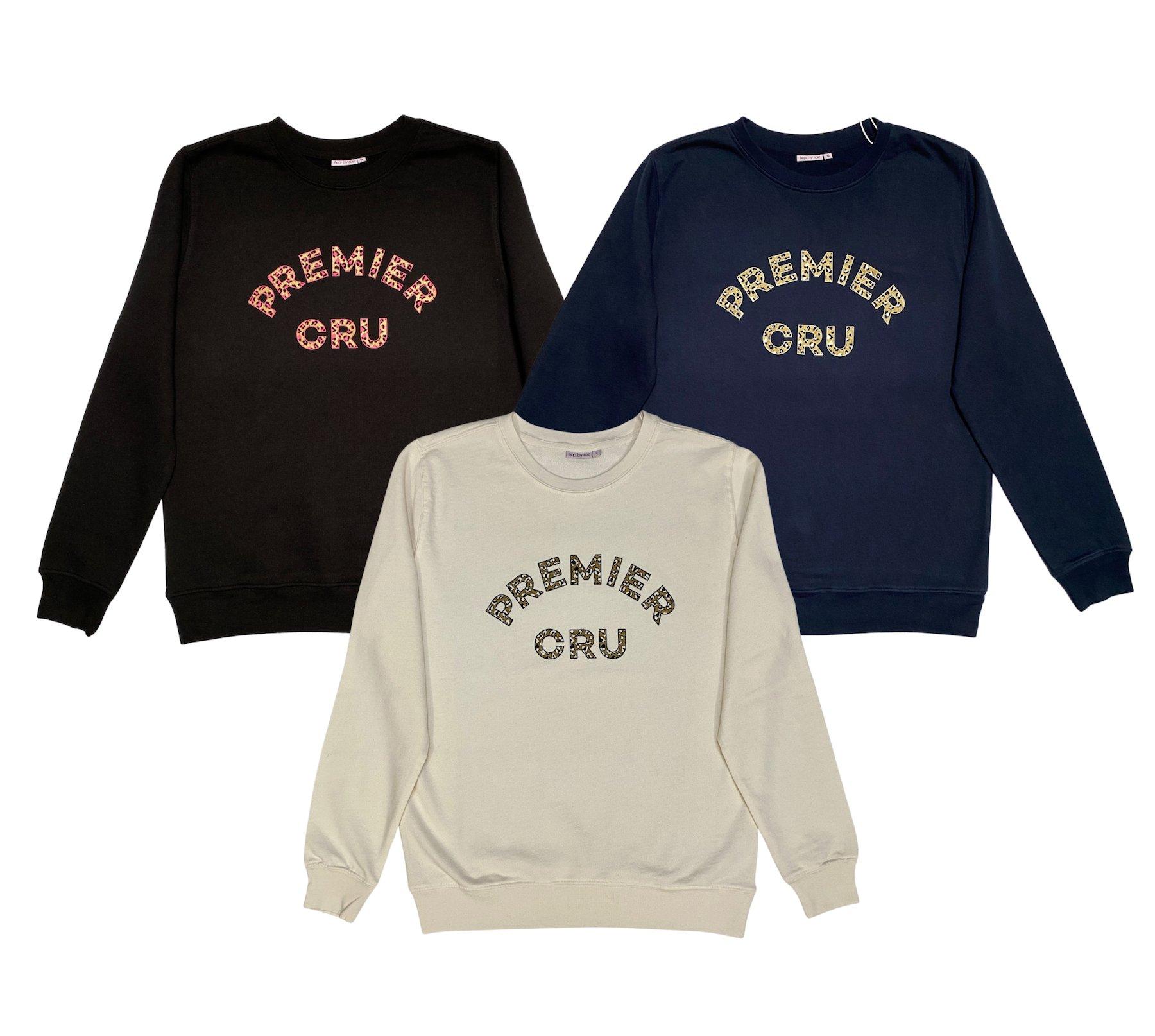 premier cru leopard sweatshirt fine knit