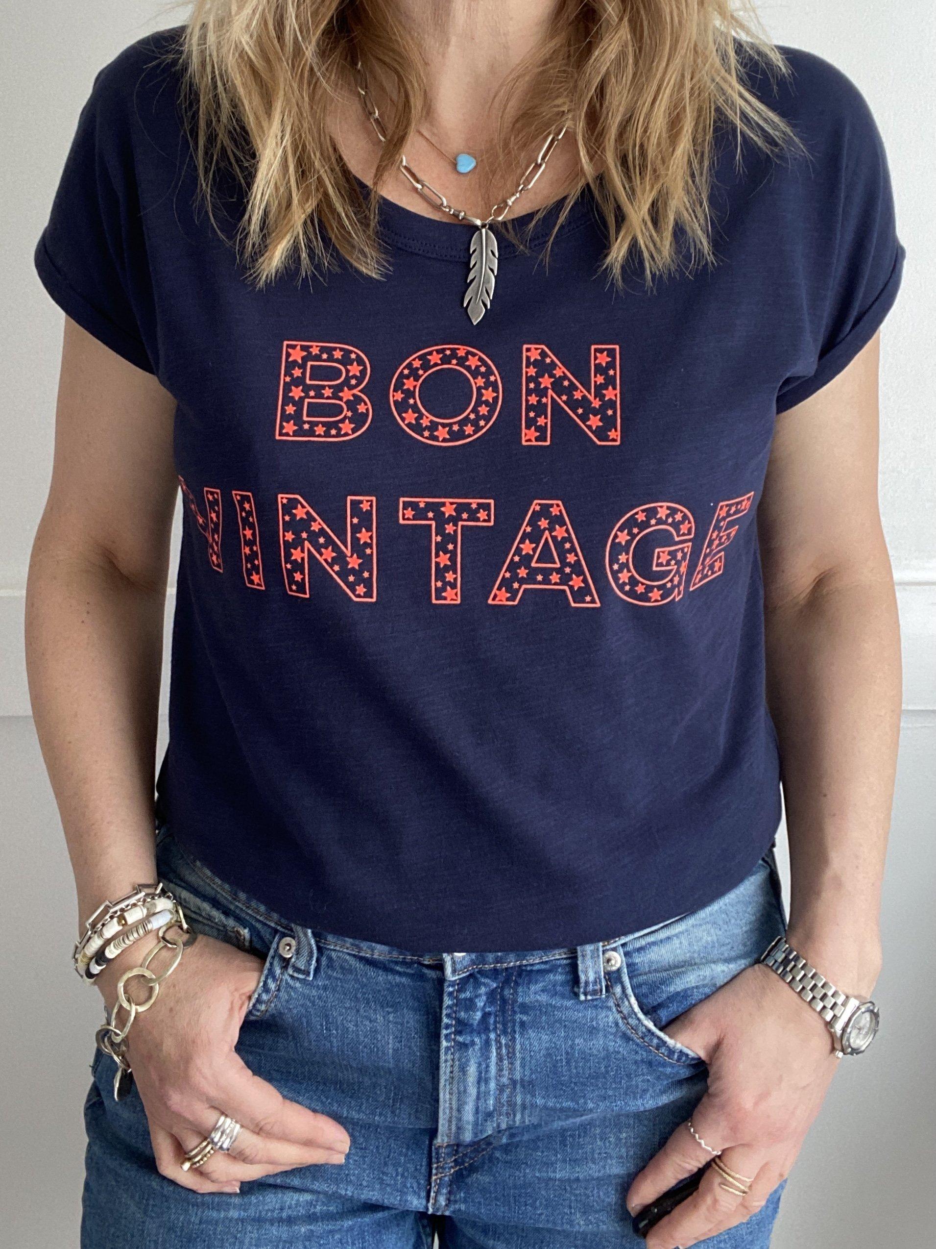 bon vintage stars t-shirt