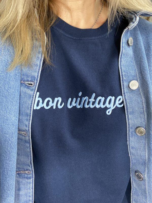 bon vintage sweatshirt fine knit