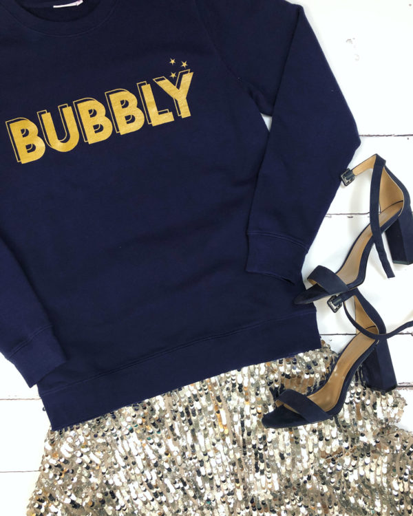 bubbly sweatshirt