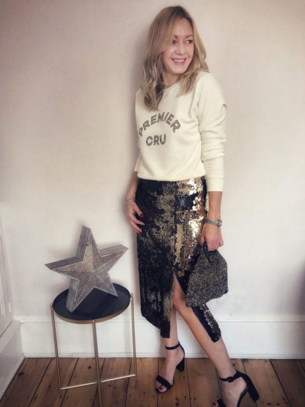 premier cru sweatshirt fine knit | leopard print