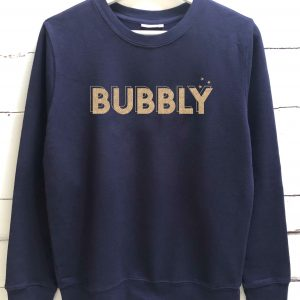 bubbly sweatshirt fine knit
