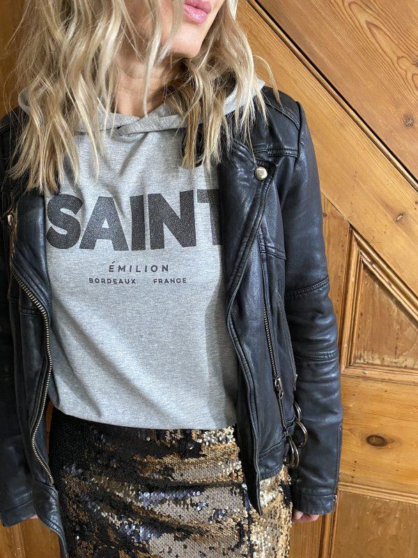Saint Emilion hooded long sleeve t-shirt