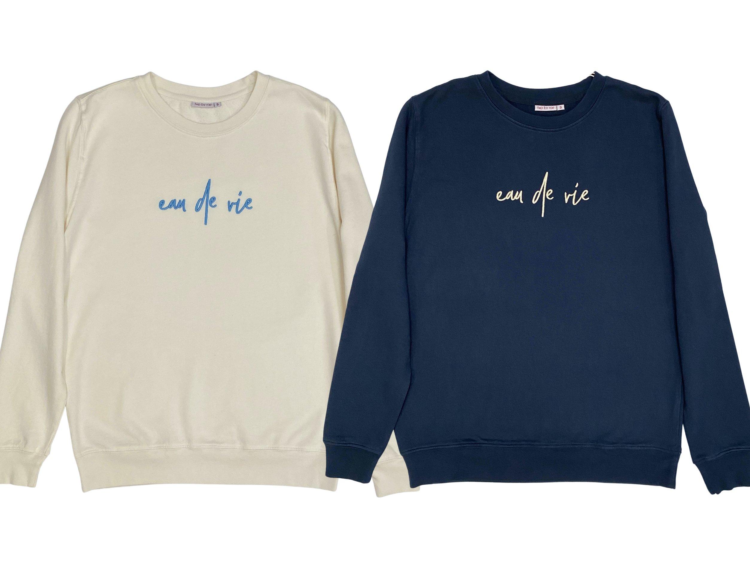 eau de vie sweatshirt fine knit