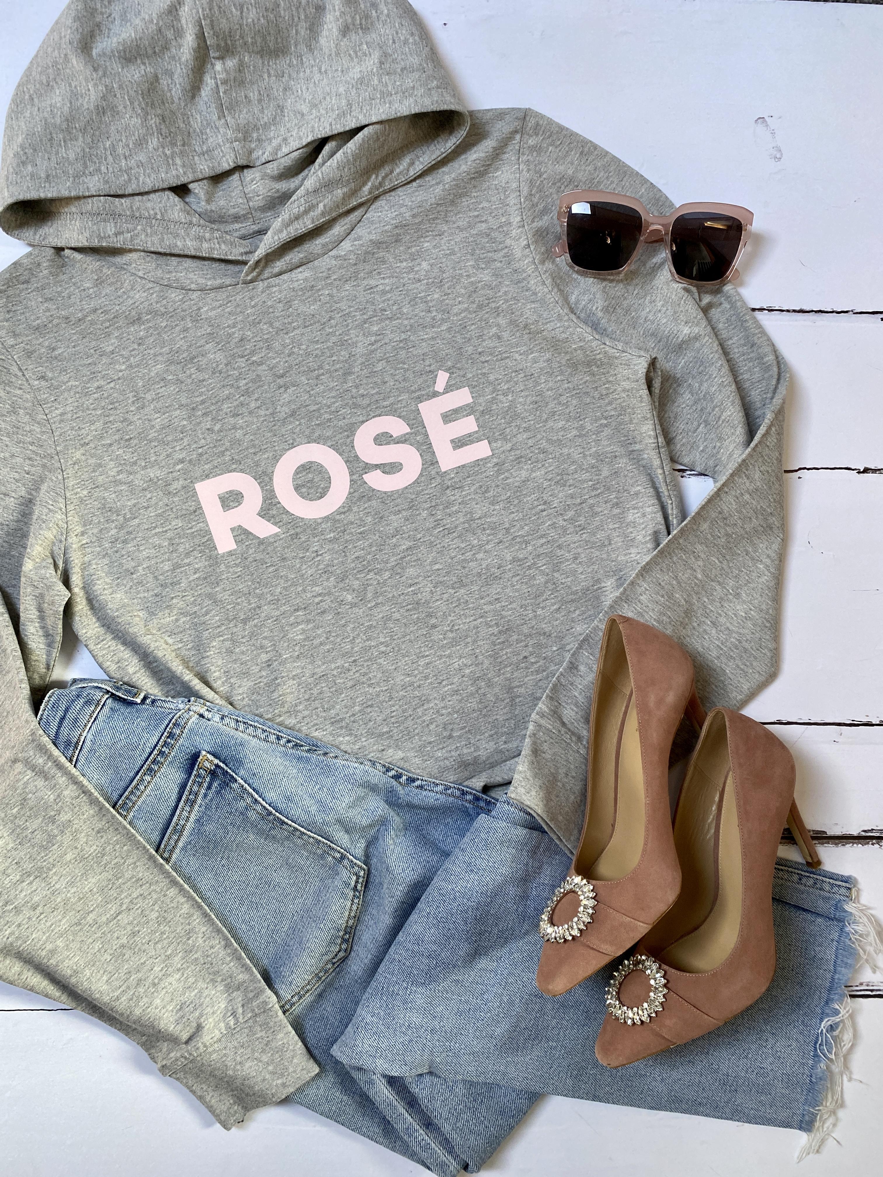 rosé hooded t-shirt