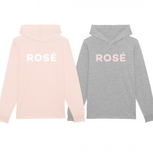 rosé hooded t-shirt