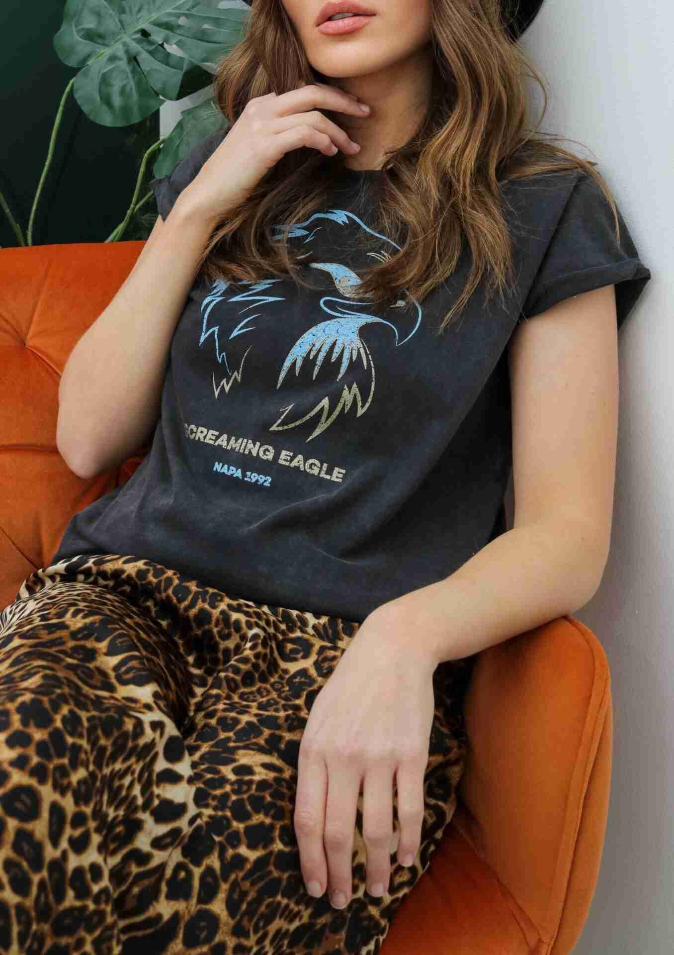 screaming eagle napa 92 t-shirt stone wash black | fwp by rae