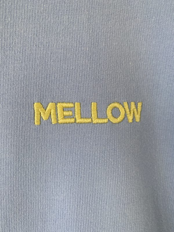 MELLOW embroidered puff sleeve sweatshirt