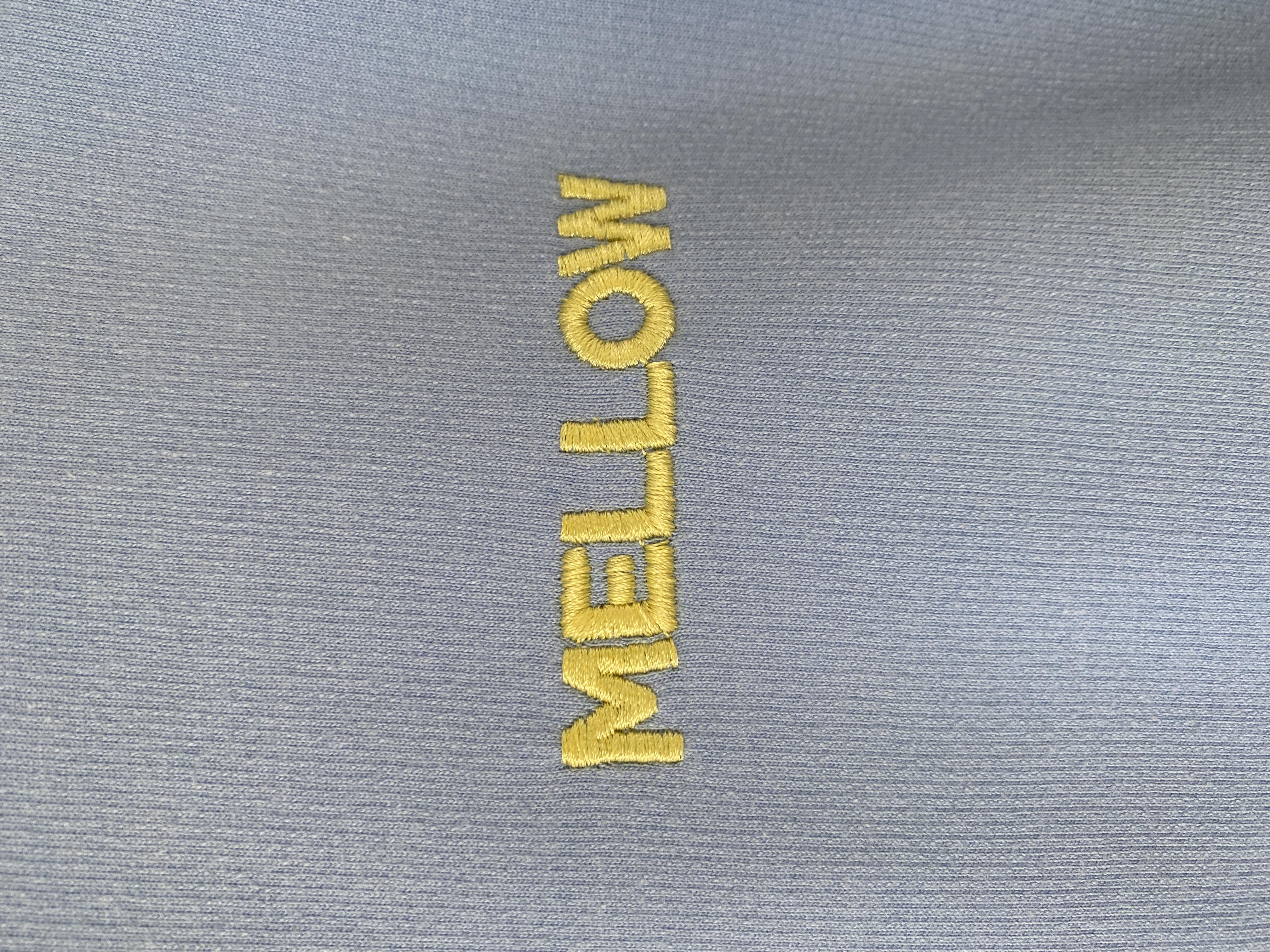 MELLOW embroidered puff sleeve sweatshirt