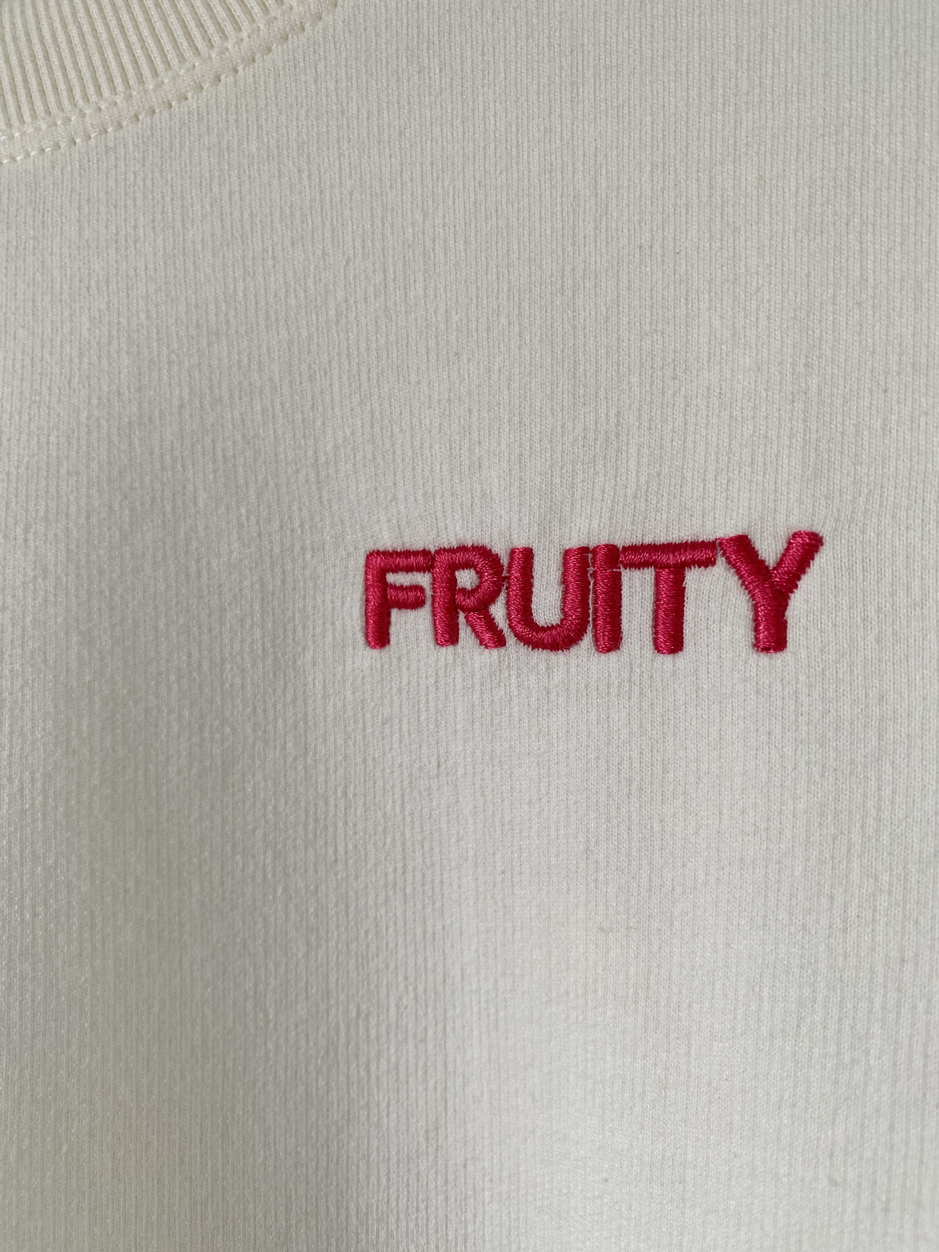 fruity embroidered puff sleeve sweater