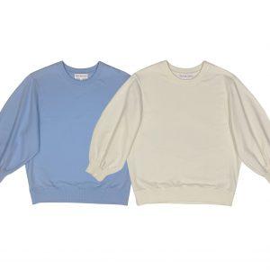 puff sleeve sweatshirt short