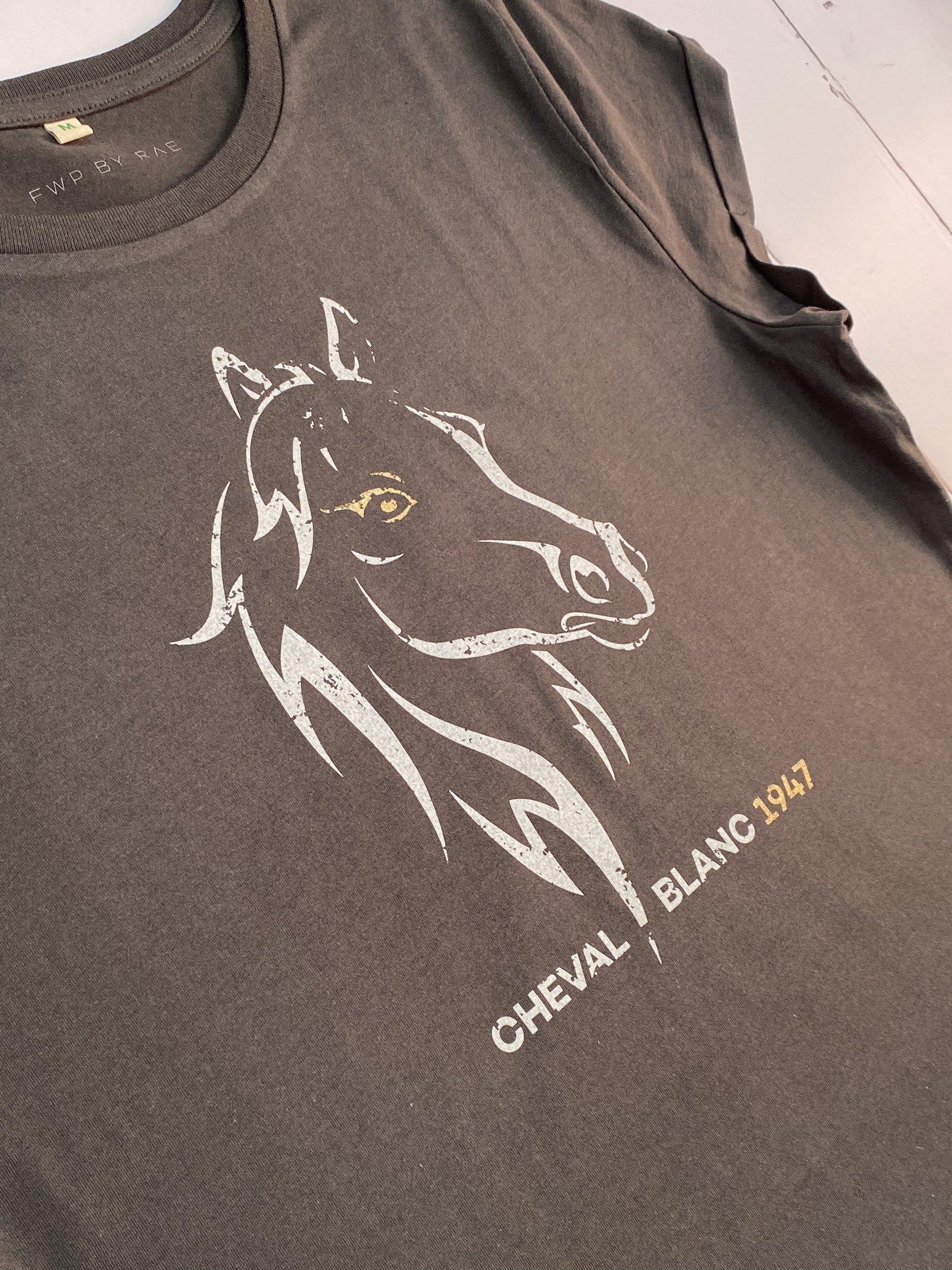 cheval blanc 1947 horse t-shirt