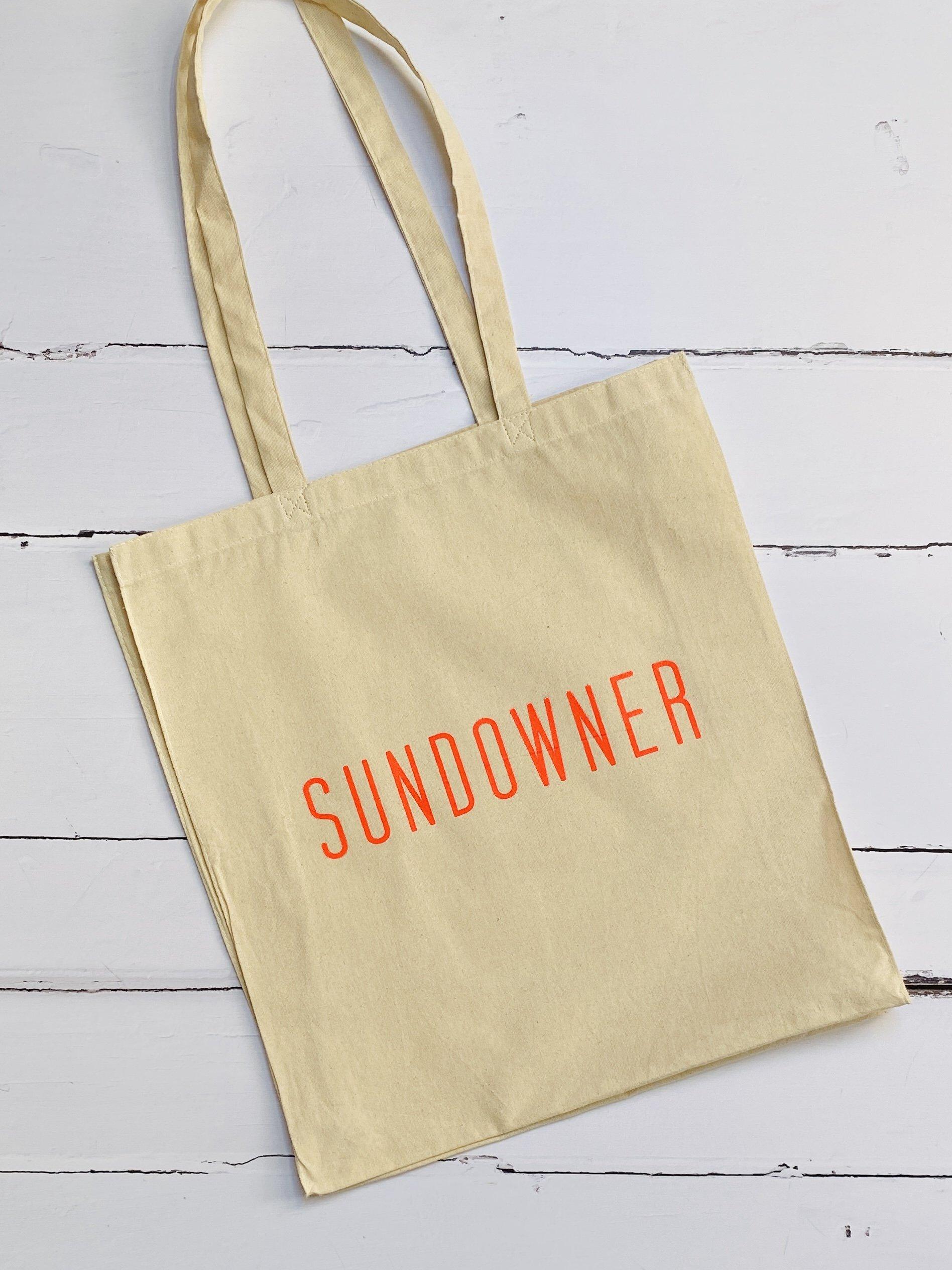 sundowner cloth tote bag