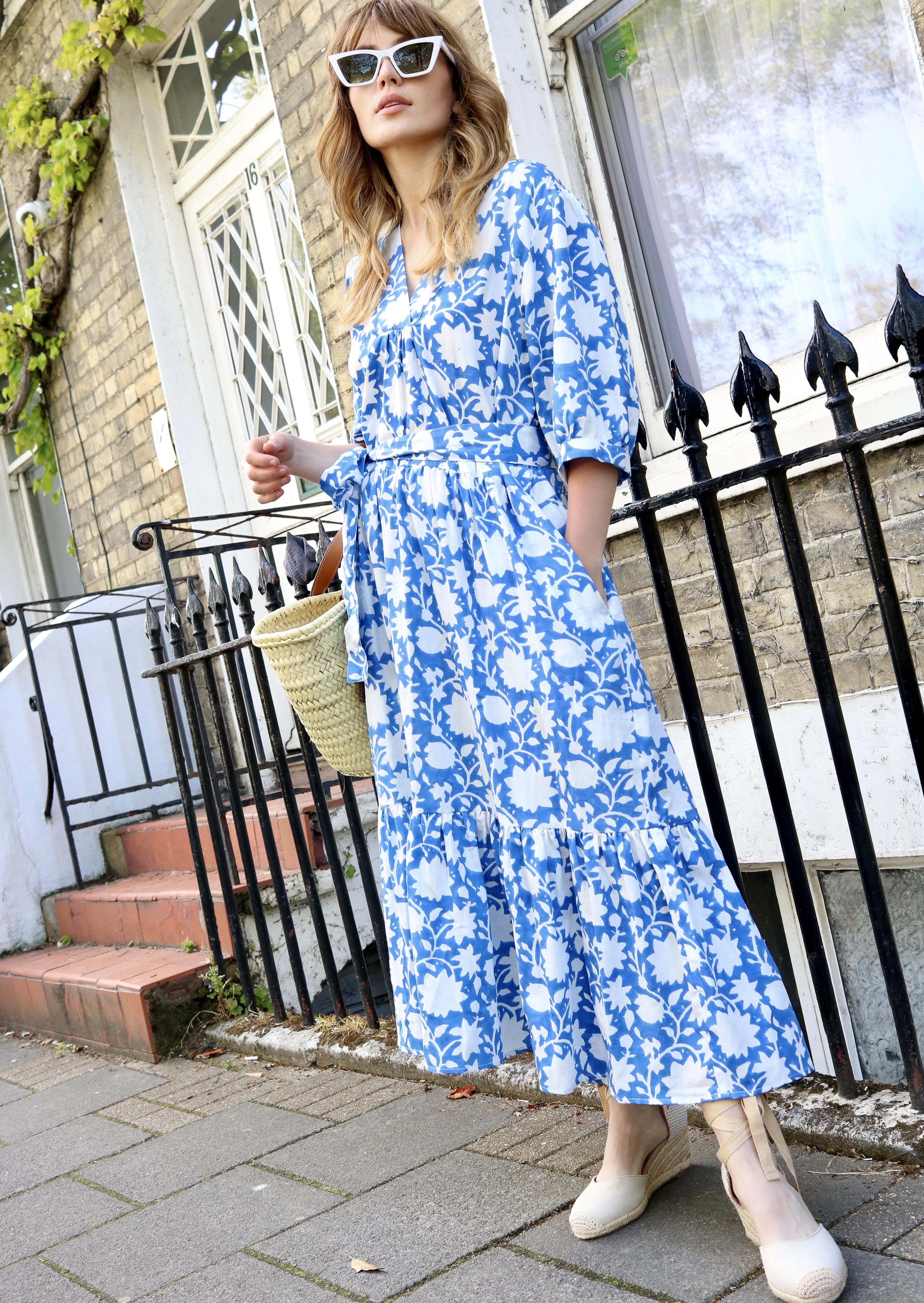 indian summer dress jodhpur blue