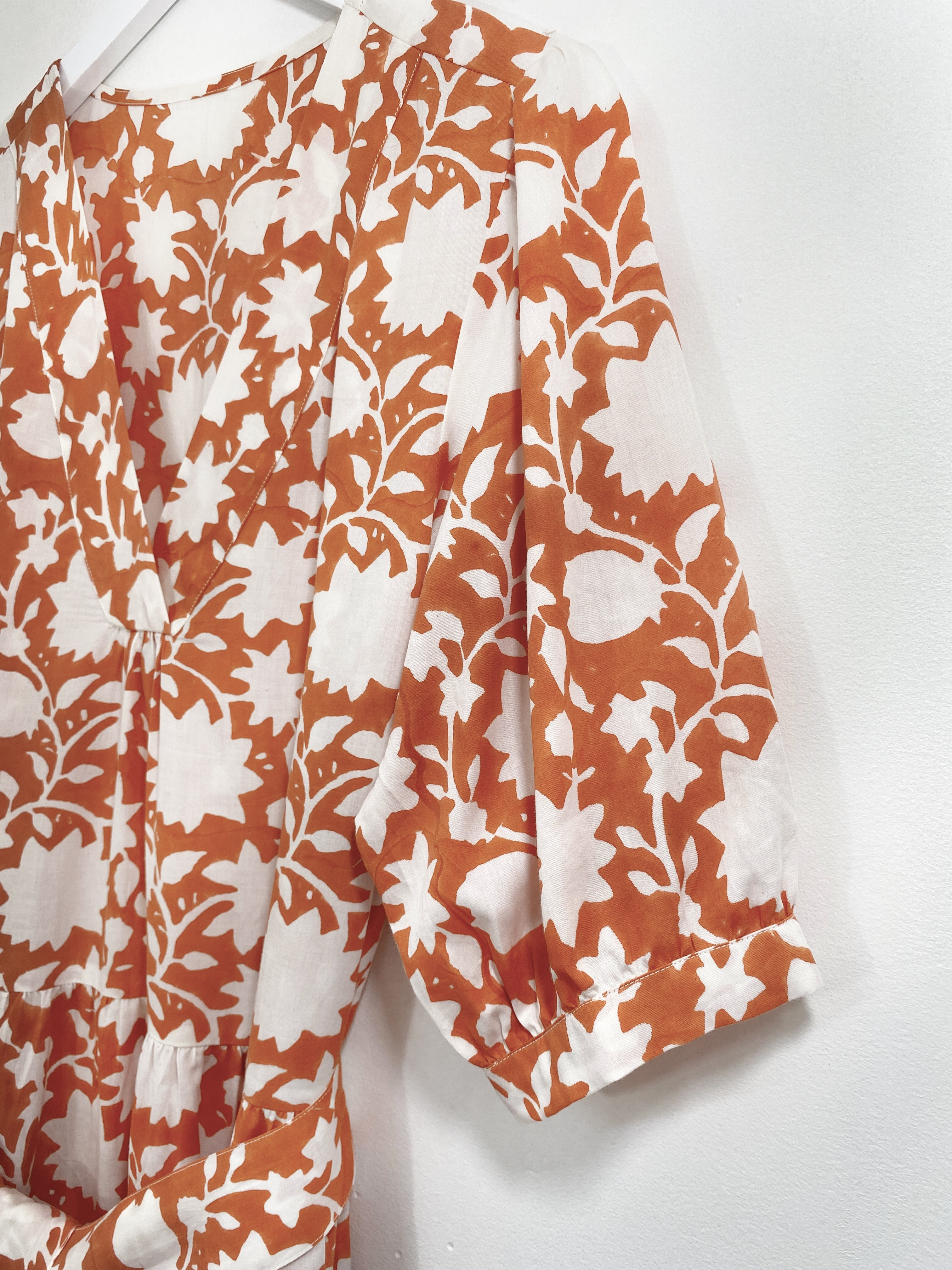 indian summer collection dress jaisalmer golden orange