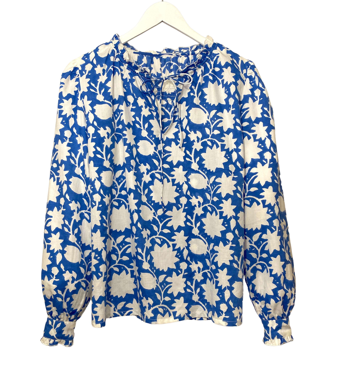 indian summer blouse jodhpur blue