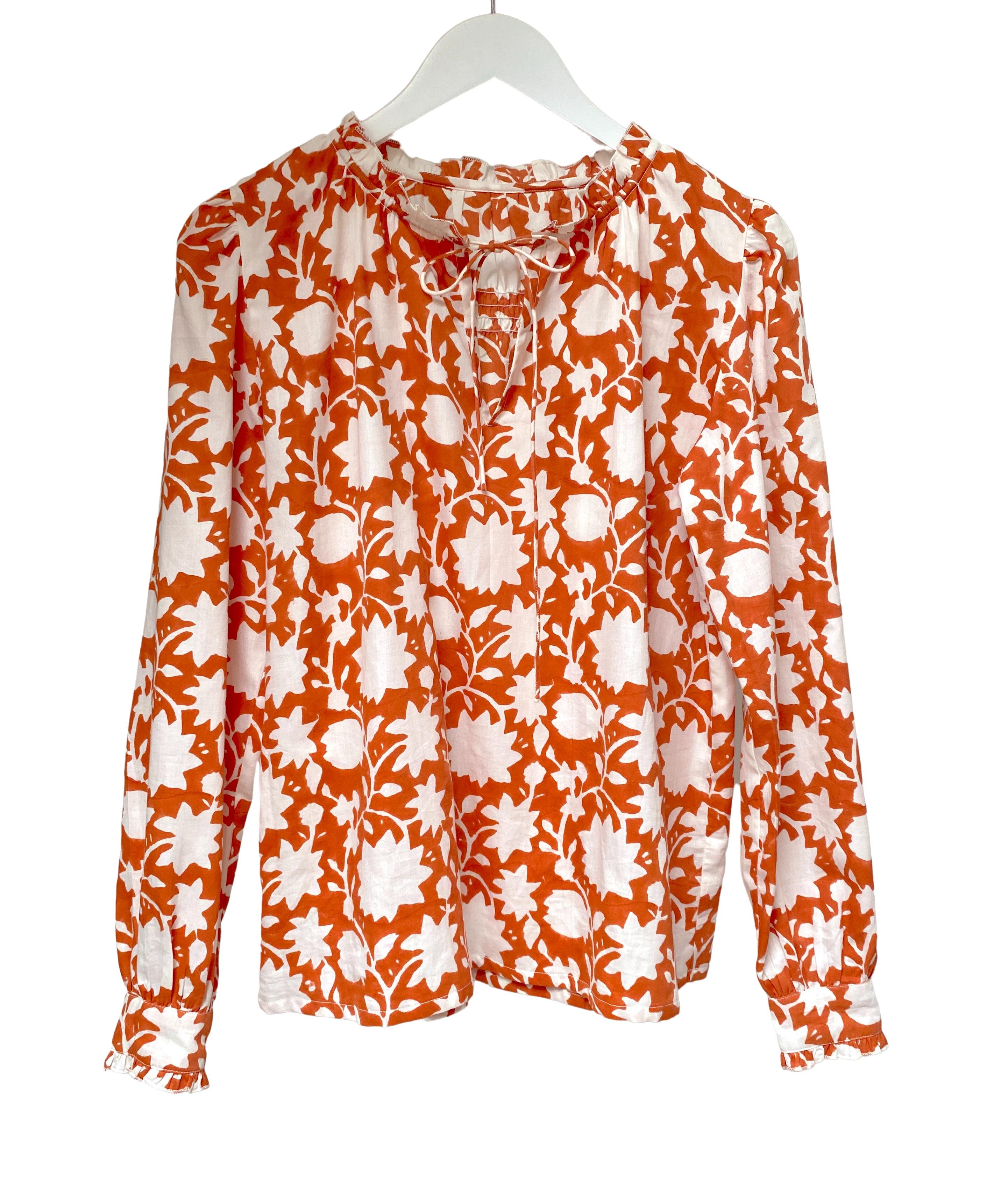 indian summer blouse jaisalmer golden orange