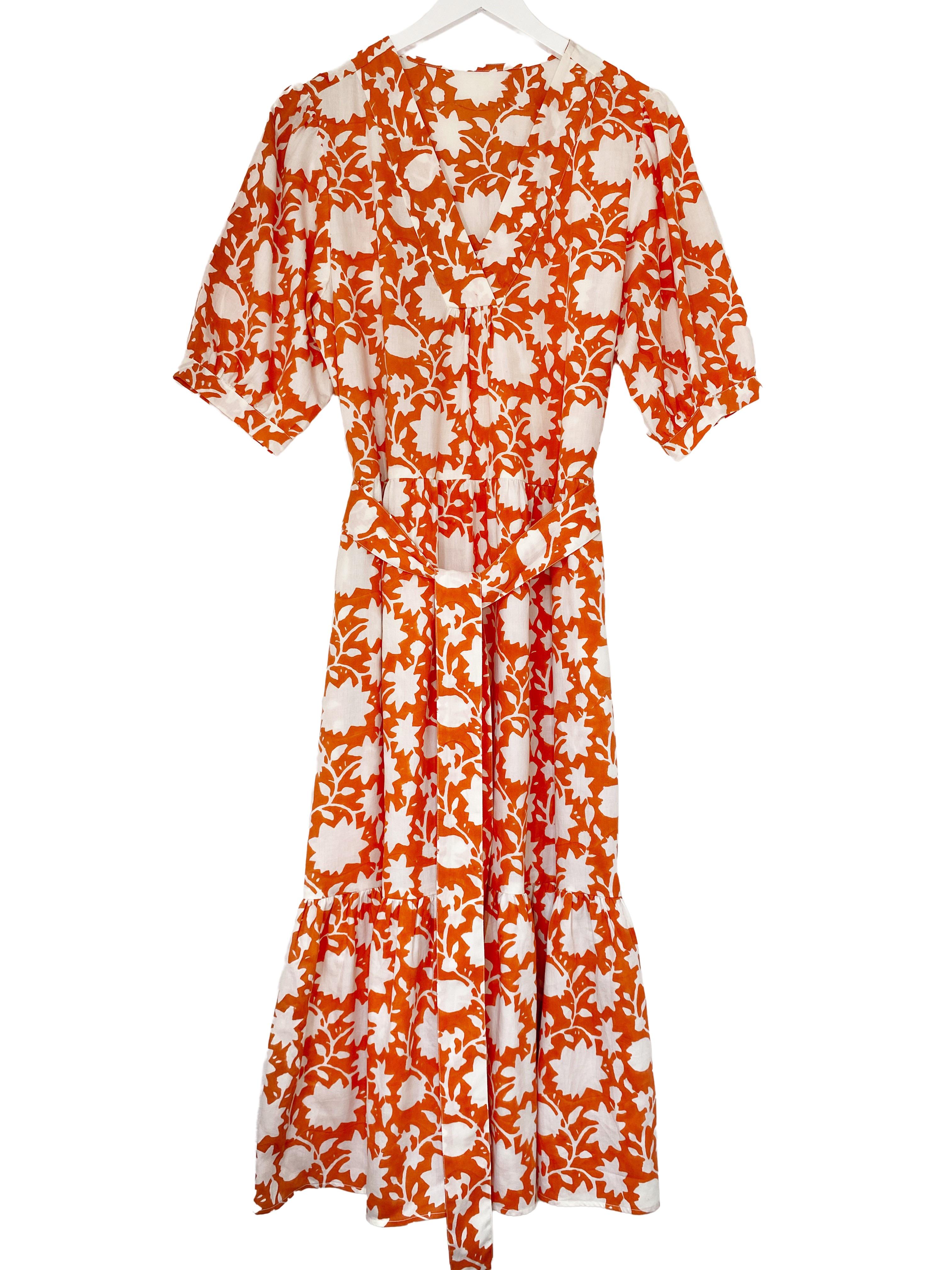 indian summer dress jaisalmer golden orange