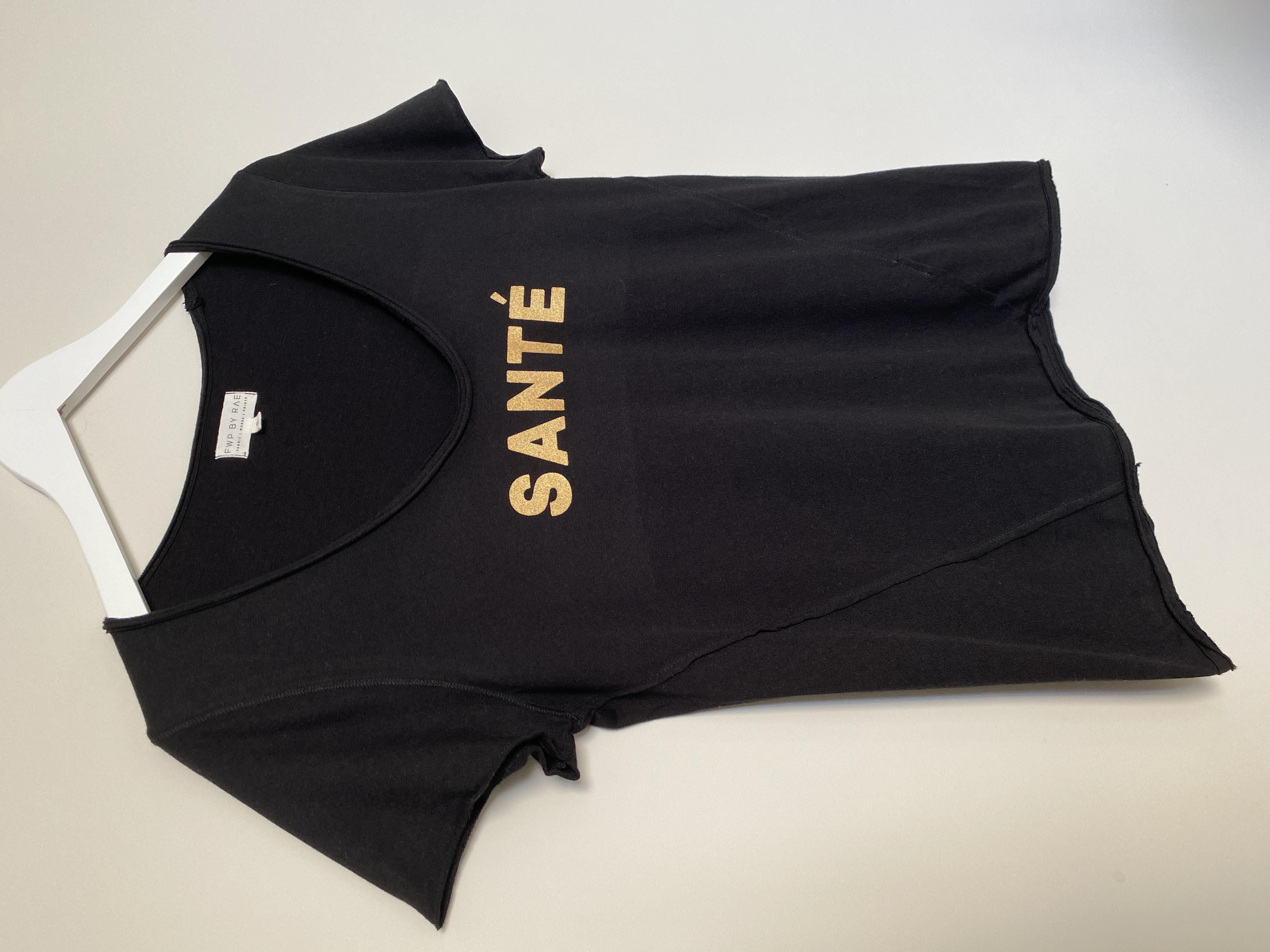 santé slogan t-shirt black