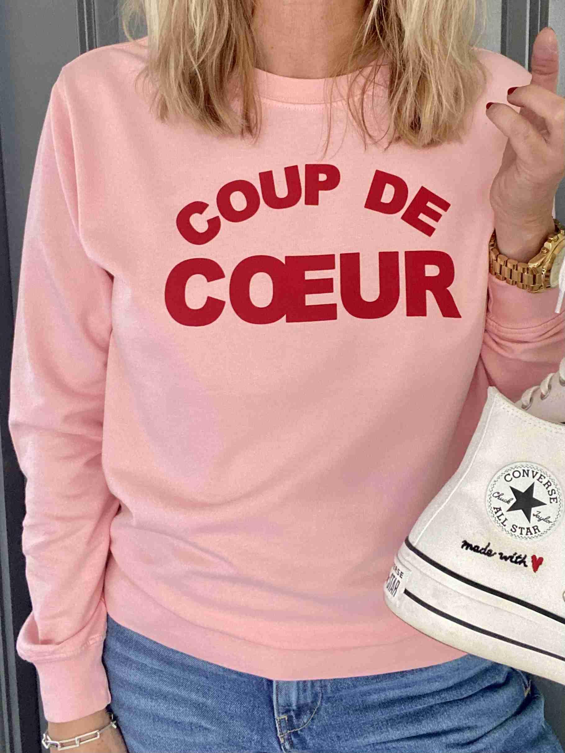 coup de coeur fine knit sweatshirt pink | fwp by rae