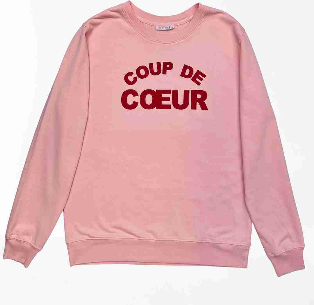 coup de coeur fine knit sweatshirt pink
