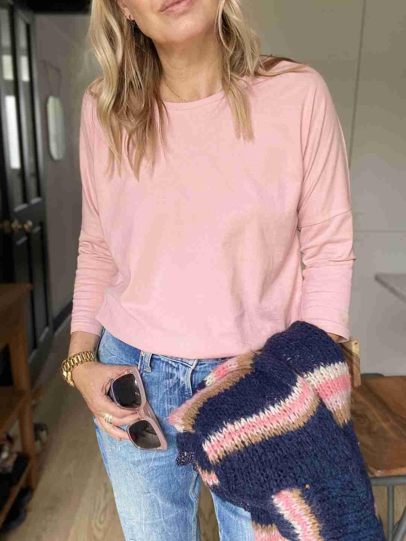 long sleeve tee pink | fwp by rae