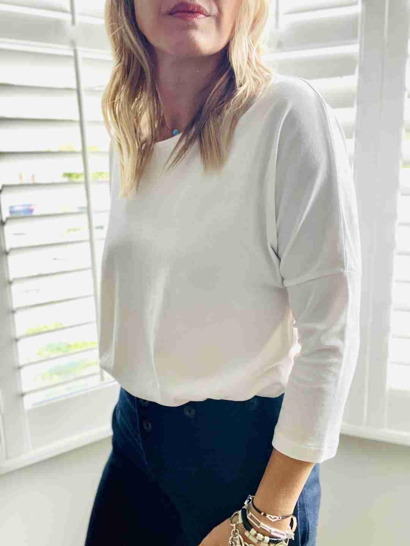 long sleeve tee white | fwp by rae