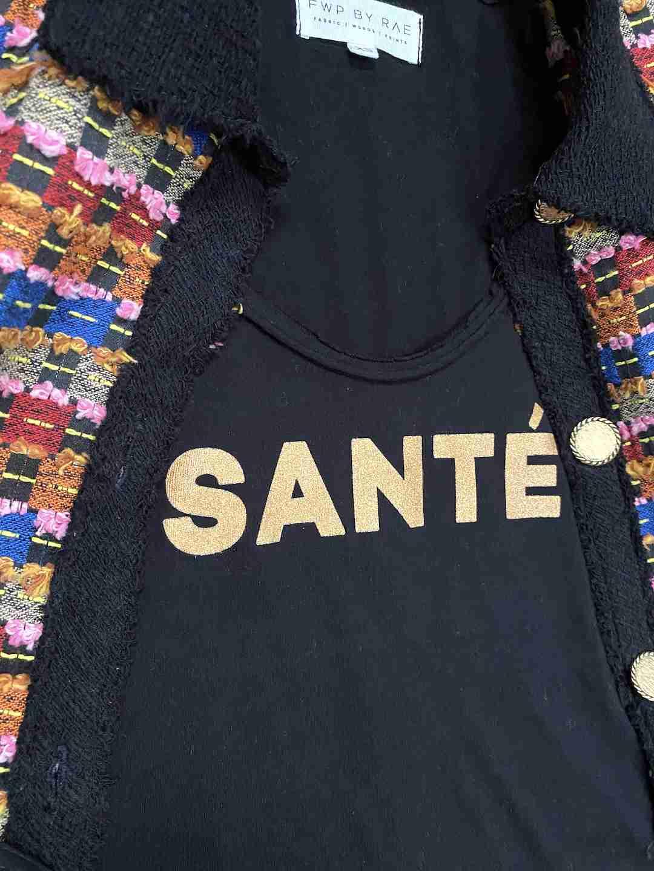 SANTÉ SLOGAN T-SHIRT BLACK | FWP BY RAE