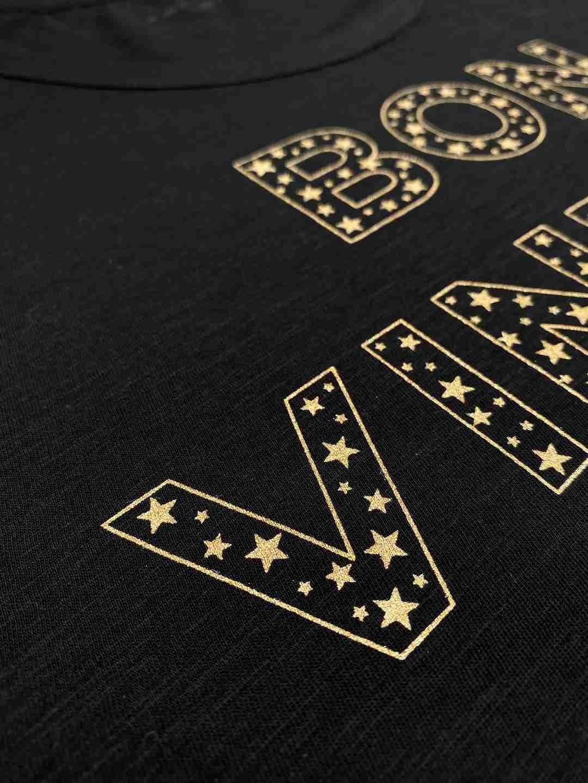 bon vintage stars tee black gold   fwp by rae