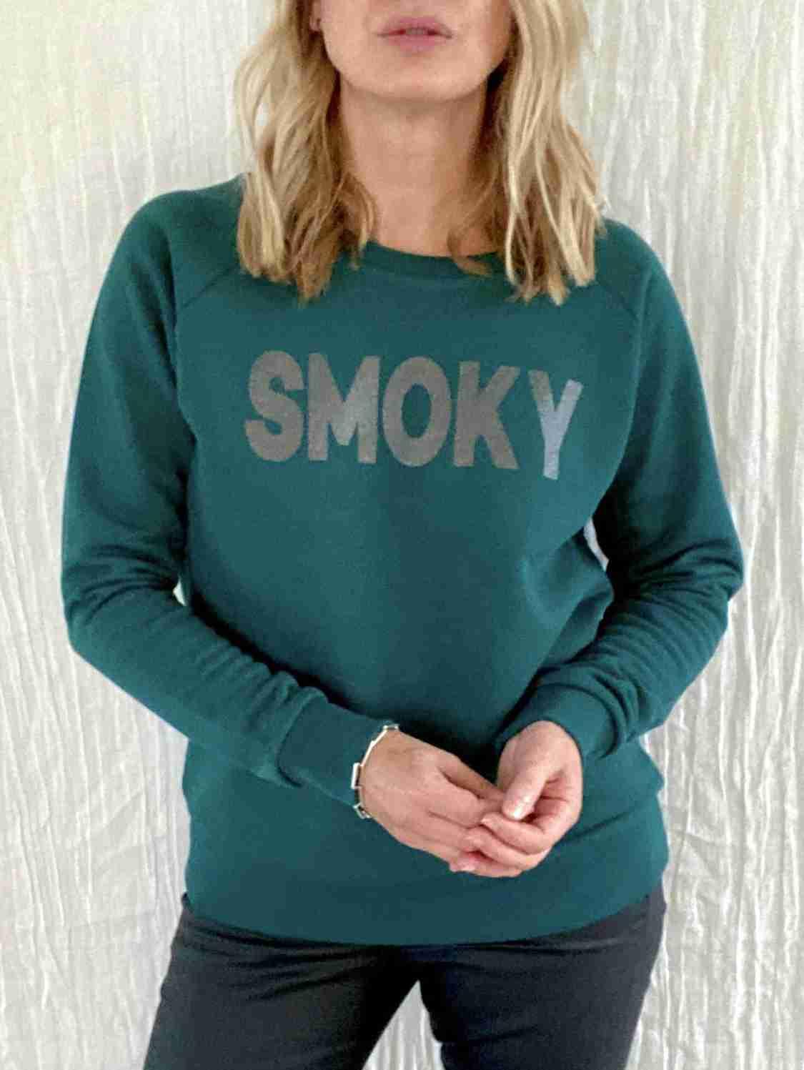 smoky sweatshirt jewel green | fwp by rae